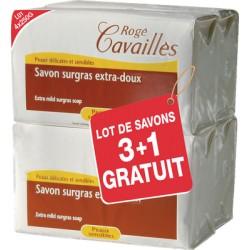 Rogé Cavaillès Savon Surgras Extra-Doux Lot de 3 x 250 g + 1 gratuit