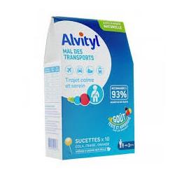 Alvityl Mal des transports sucettes x10